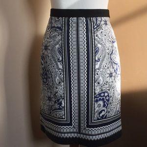 Raffaella Paisley knit skirt, size10
